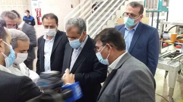 استاندار قزوین به همراه رئیس سازمان صمت از چند واحد صنعتی آبیک بازدید کردند